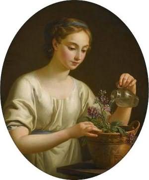 сон поливать цветы в горшках