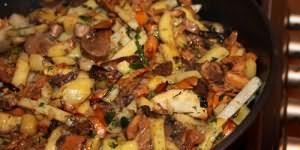 сонник жареная картошка с грибами